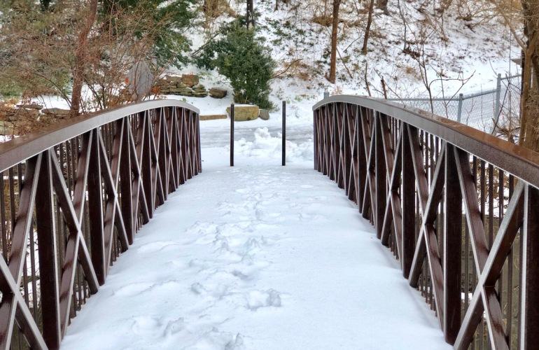 Spring vs. Winter on the bridge