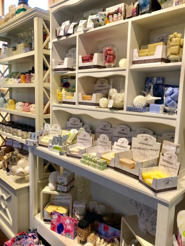 A wall of french soaps